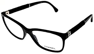 Chanel Prescription Eyeglasses Frame Black Women CH3262 1443 Square