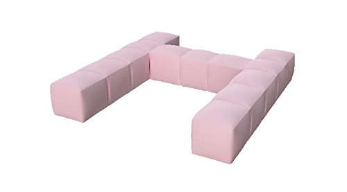 Pigro Felice 921988-RPINK Modul'Air Luxury Inflatable Single Top Backrest Piscina Galleggianti, Rosa