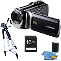 Samsung HMX-F90 HD Digital Video Camcorder black deluxe bundle with a full size tripod, 16 gb card and a cleaning kit. from Samsung