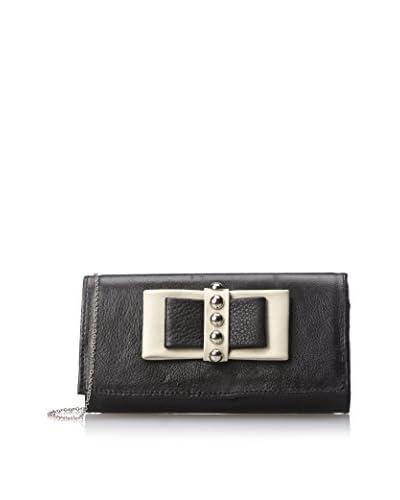 Possé Women's Mela Bow Wallet, Black/Bone Trim As You See