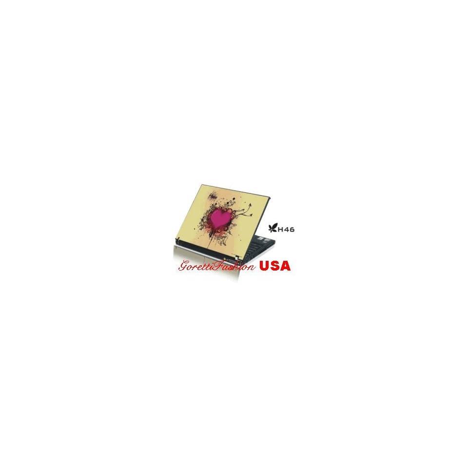 15.4 Laptop Notebook Skins Sticker Cover H46 Pink Heart