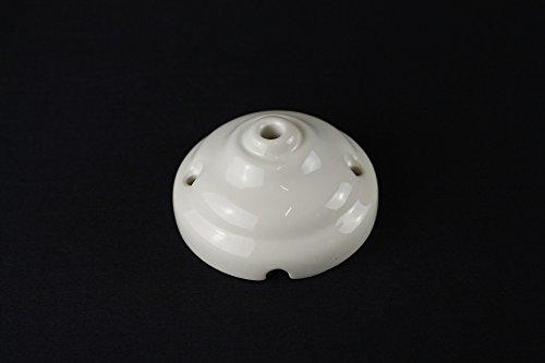 Rosetta rosone copriforo in ceramica (con foro centrale) - 9,4 cm