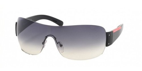 prada PRADA SPORT SUNGLASSES SPS 07F SPS07F 1AB-5D1 Gloss Black Shield Shades