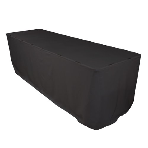 17 Foot Plain Polyester Table Skirt Black