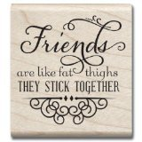 Hampton Art Laugh Out Loud Rubber Stamps, Stick Together - 1