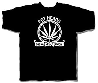 Price Busters - Potheads Union Adult T-Shirt, X-Large, Black