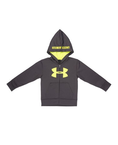 Under Armour Little Boys' Toddler Ua Big Logo Hoodie Infant 4 Toddler Charcoal front-883230
