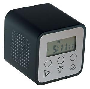 Mag Cube Mp3 Alarm Clock Usb2 0 Sd Mmc Black Body Amazon