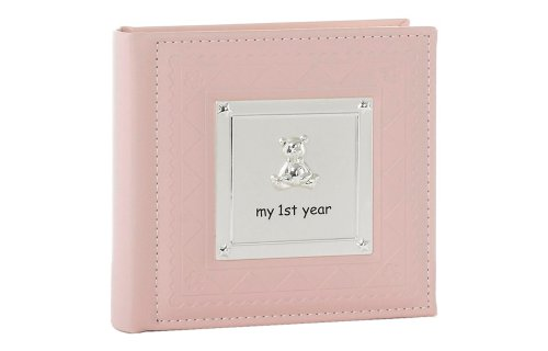 """My 1st Year"" Baby Girl Pink Keepsake Photo Album By Haysom Interiors"