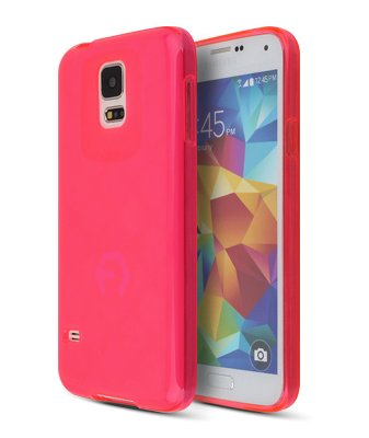 Note3 Case, Aqua Bumper, Samsung Mobile Galaxy Note 3 Soft Jelly Cover 7 Colors Tpu Slim Fit (At&T, Verizon, Sprint, T-Mobile) - Retail Packaging (Hot Pink)