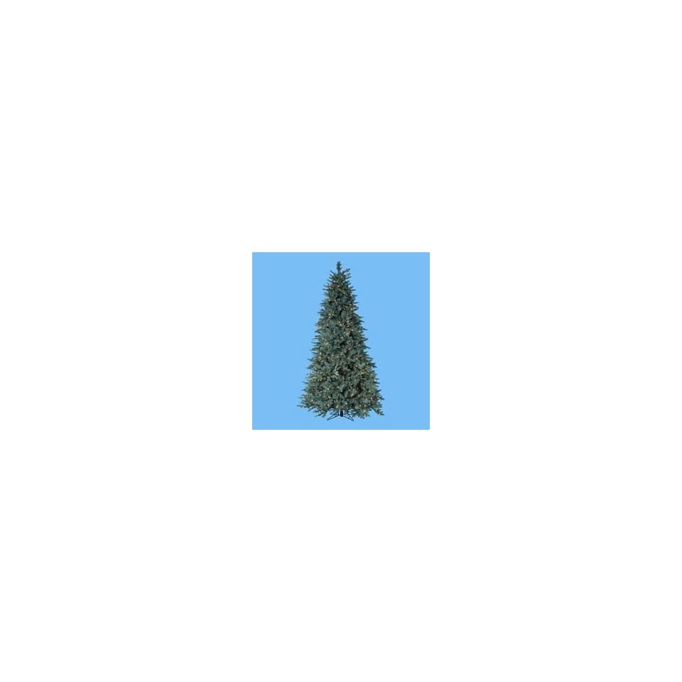 New   7.5 Pre Lit Blue Noble Spruce Christmas Tree   Clear Lights by Gordon