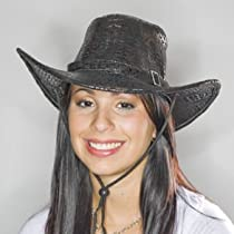 Black Leatherette Cowboy Hat
