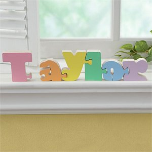 Cheap PersonalizationMall.com Girls Personalized Wooden Name Puzzle (B002Z9947Y)
