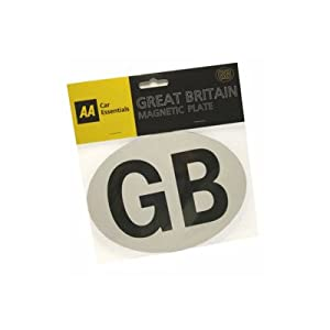 AA Essentials Car Magnet/Magnetic GB Euro Great Britain Badge Plate PUB10101