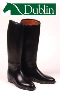 Dublin Universal Rubber Riding Boots, Black - UK 6 (wide calf)