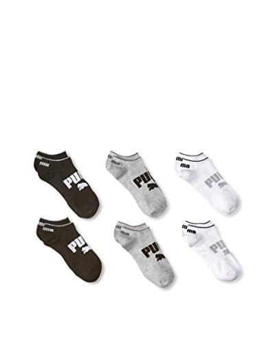 PUMA Women's 6-Pack Non Terry No-Show Sock Set