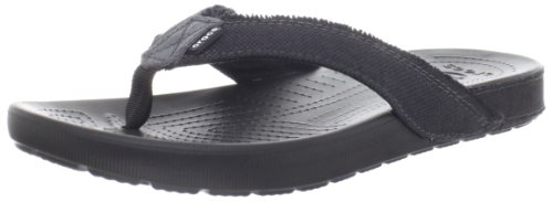 Crocs Men's 14393 Santa Cruz II FP Sandal,Black/Black,12 M US