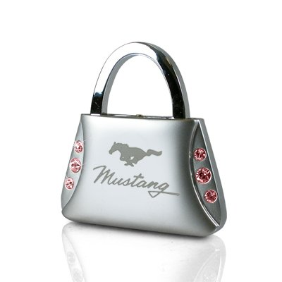 Ford Mustang Pink Crystals Purse Key Chain (Ford Mustang Pink compare prices)