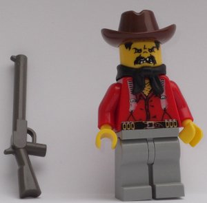 Lego Western Bandit Minifigure - 1