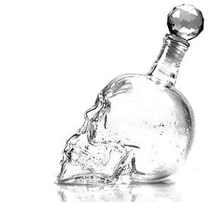 ECOSCO Crystal Head Skull Liquor Wine Vodka Whiskey Glass Bottle Jar Decanter Party New
