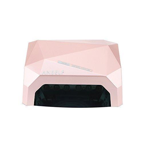 Anself 36W LED CCFL Nail asciugatrice diamante a forma di macchina migliore lampada di polimerizzazione per Gel UV Nail Polish (rosa)