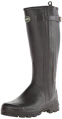 Le Chameau Footwear Men's Chasseur Cuir Rain Boot, Noir, 40 EU/7.5 M US