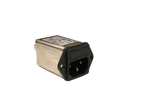 Interpower 83510460 Three Function Module, C14 Inlet, Fuse, Filter, 6A Current Rating, 115/250VAC Voltage Rating (Iec Power Cord Filter compare prices)