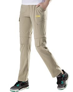 Makino Women's Convertible Quick-Drying Hiking Pants M131612006 Khaki US Small(Asian L) (Women Convertible Pants compare prices)