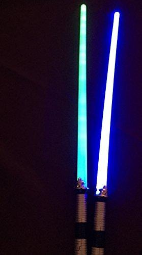 Light Saber LED 2 Pack Blue Green Light up Sword