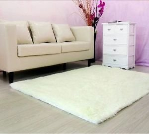S-ZONE Super Soft Solid Color Off-White Carpet/Floor Rug/ Living Room Carpet/Area Rug 80CMx120CM from TYFung