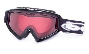 Bolle X-9 OTG Ski Goggles - Shiny Black Frame - Vermillon Lens