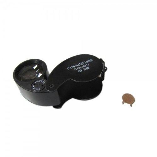 Fast Shipping + Free Tracking Number, Magnifier 40X 25 Mm Led Jeweler Loupe Magnifying Glass Led Light Illumination