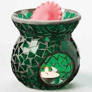 Mosaic Tart Burner - Dark Green