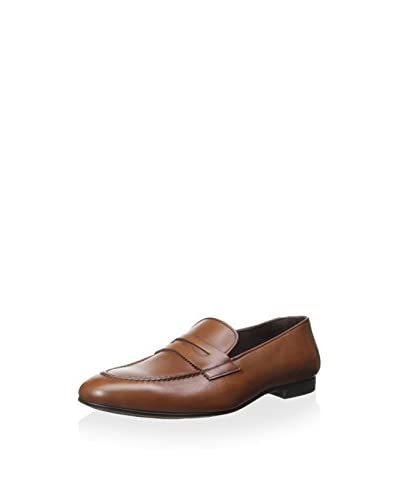 A. Testoni Men's Apron Toe Dress Penny Loafer