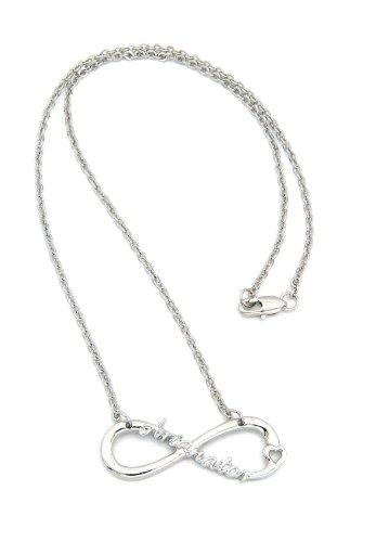 NYfashion101 XC472R - Collana per i fan Arianator con simbolo dell'infinito in tonalità argento con catenina a maglie da 45,7 cm