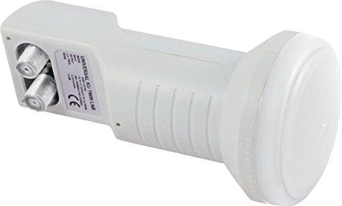 Telestar Skytwin-LNB (für 40mm LNB-Halterung, HDTV geeignet, zum Anschluss von bis zu 2 Receivern)