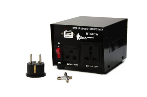Rockstone Power RSP-500 Step Up/Down Voltage Transformer Converter - AC 110/220 V - 500 Watt with USB Port