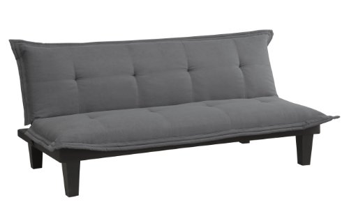 Discover Bargain DHP Lodge Futon, Charcoal