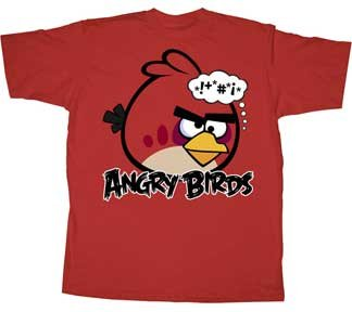 Angry Birds Bonkers Red Bird Mens T-Shirt