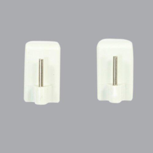 Lot de 4 supports adhésifs spécial PVC Blanc