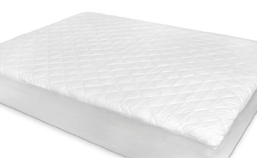 The True Down Alternative Rio Home Fashions Natural Wool Blend Mattress Pad, Queen front-1050378