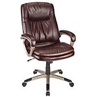 Realspace Harrington II High-Back Chair (Burgundy/Champagne) + 2-Pocket Portfolio