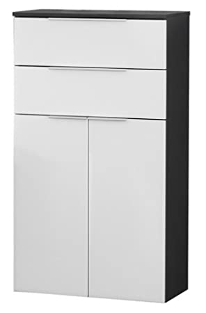 Fackelmann Kara Anthracite/White Bathroom Cabinet