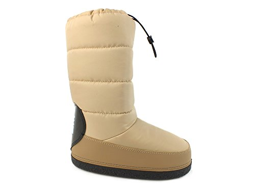 LOVE MOSCHINO moon boot doposci neve sci donna TESSUTO BEIGE TAUPE 39