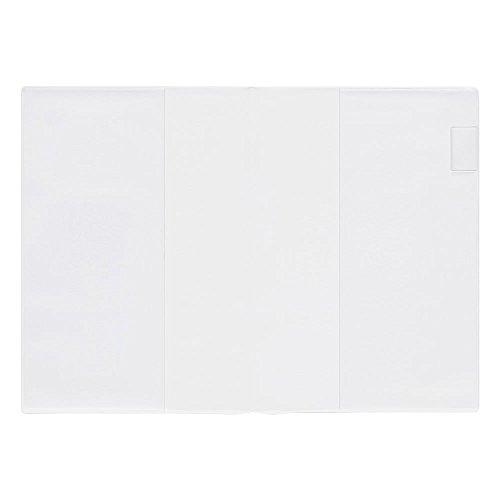Midori 49360006 - Funda de plástico transparente para cuaderno, A5