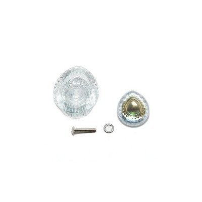 Moen 96798 Knob Handle Kit, Chateau 1 Handle Tub/Shower, Clear Knob with White & Gold Insert (Moen Shower Trim Kits Gold compare prices)