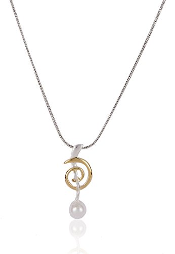 Estelle Estelle Silver Plated Pendant Set With Pearl(770)