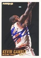 Kevin Gamble Miami Heat 1994 Fleer Autographed Hand Signed Trading Card. by Hall+of+Fame+Memorabilia