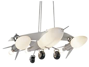 Trans Globe Lighting KDL-852 Fighter Jet Airplane Drop Pendant