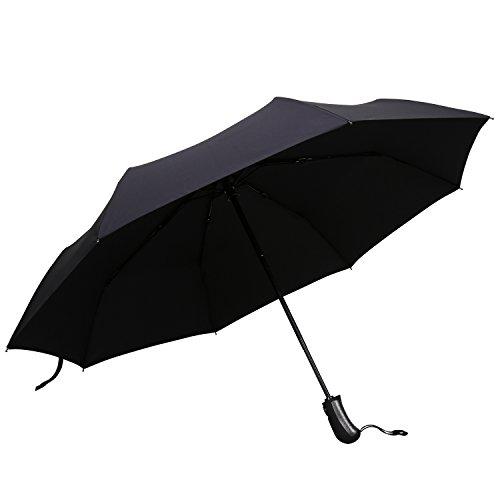 Mysuntown Windproof Auto Open Close Travel Umbrella Fiberglass Reinforced 8-Rib Umbrella